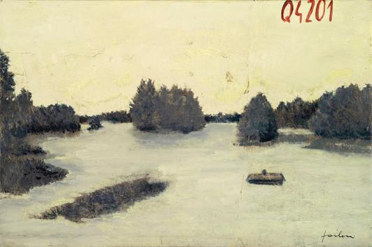 Senza titolo, 2005, olio su carta su tela, cm 30 x 40