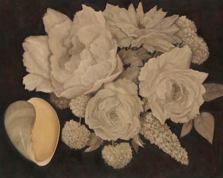 Senza titolo, 2010, olio su carta su tela, cm 120 x 150