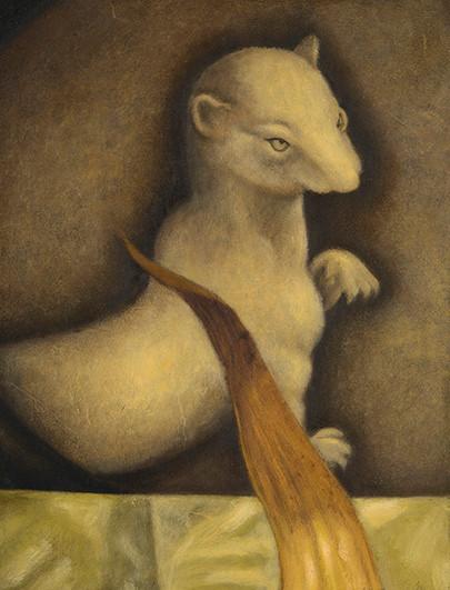 Senza titolo, 2014, olio su carta, cm 45 x 34,5