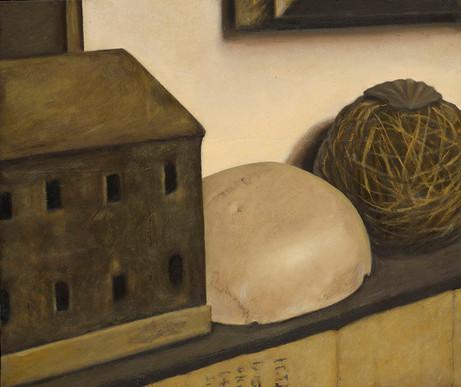 Senza titolo, 2012/2013, olio su carta su tela, cm 50 x 60