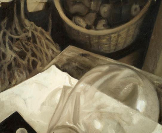 Senza titolo, 2007, olio su carta su tavola, cm 38 x 46