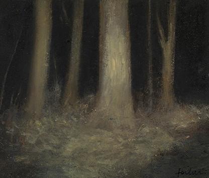 Senza titolo, 2012 olio su carta, cm 10 x 11,7