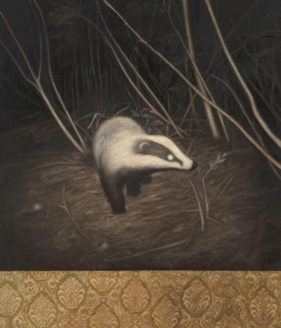 Senza titolo, 2011 olio su carta su tela, cm 140 x 120