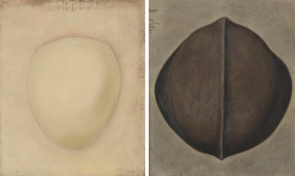 Senza titolo, 2003, olio su carta su tela, cm 120 x 150 ognuno