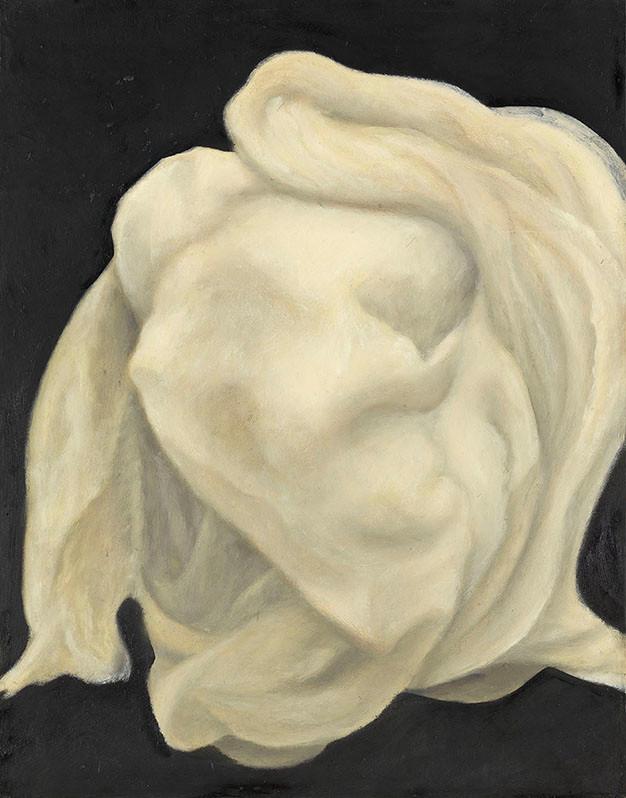 Senza titolo, 2009, olio su carta su tela, cm 53 x 68