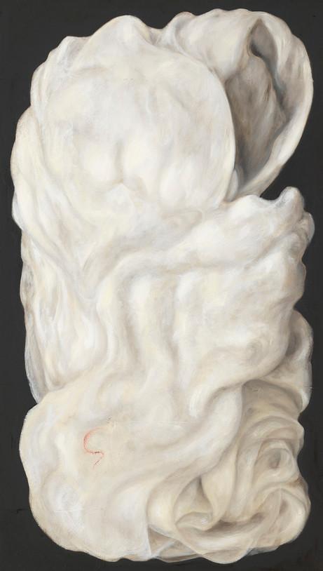 Senza titolo, 2009, olio su carta su tela, cm 140 x 80
