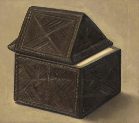 Senza titolo, 2010, olio su carta su tela, cm 70 x 80