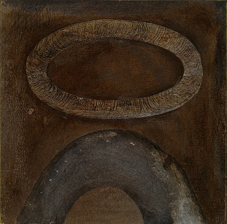 Senza titolo, 2001, calcografia e matita, cm 34 x 36,5