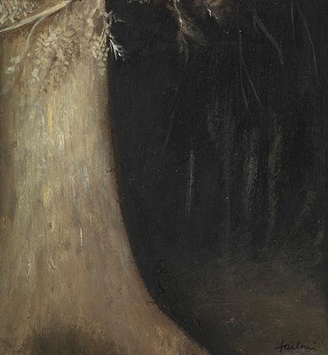 Senza titolo, 2012 olio su carta su tela, cm 14,5 x 13,5