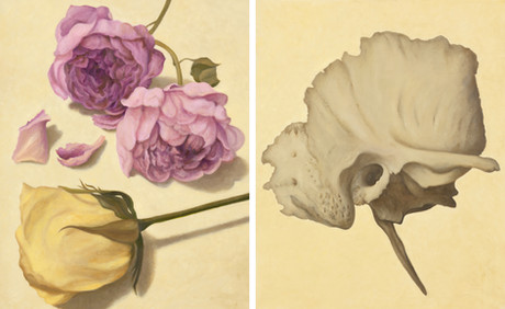 Senza titolo, 2018, olio su carta su tela, cm 100 x 80 ognuno