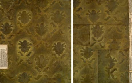 Senza titolo, 2005, olio su carta su tela e collage, cm 70 x 110