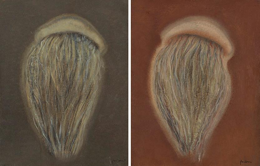Senza titolo, 1999, olio su carta su tela, cm 45 x 35 ognuno