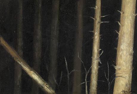 Senza titolo, 2012 olio su carta, cm 9,8 x 14