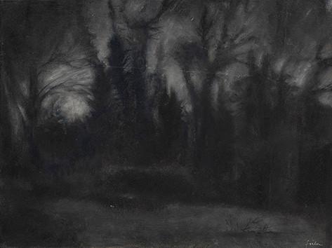 Senza titolo, 2009, olio su carta su tela, cm 30 x 40