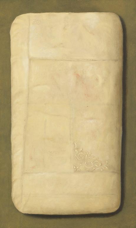 Senza titolo, 2016, olio su carta su tela, cm 100 x 60
