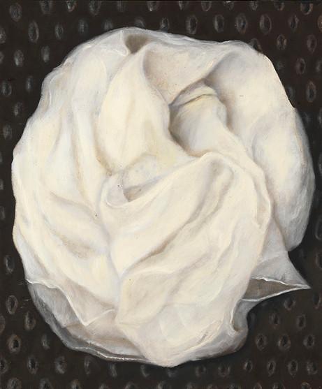 Senza titolo, 2008, olio su carta su tela, cm 60 x 50