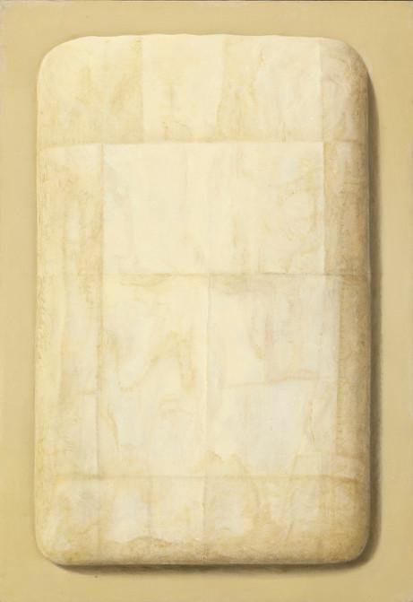 Senza titolo, 2018, olio su carta su tela, cm 130 x 90