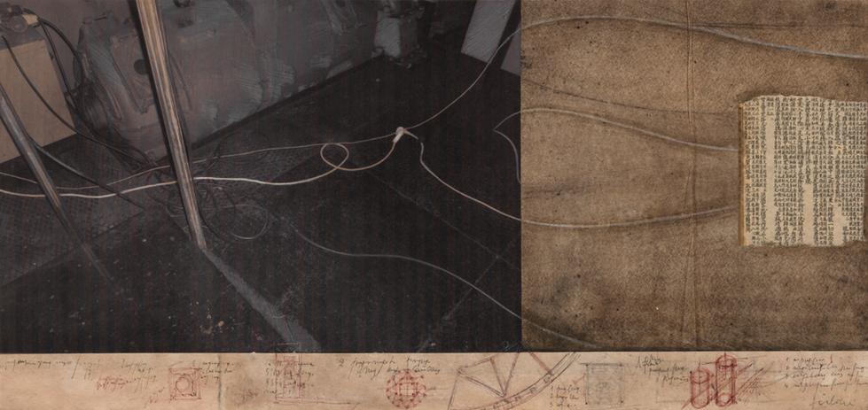 Ursus, 2009, tecnica mista su carta, cm 31 x 66,5