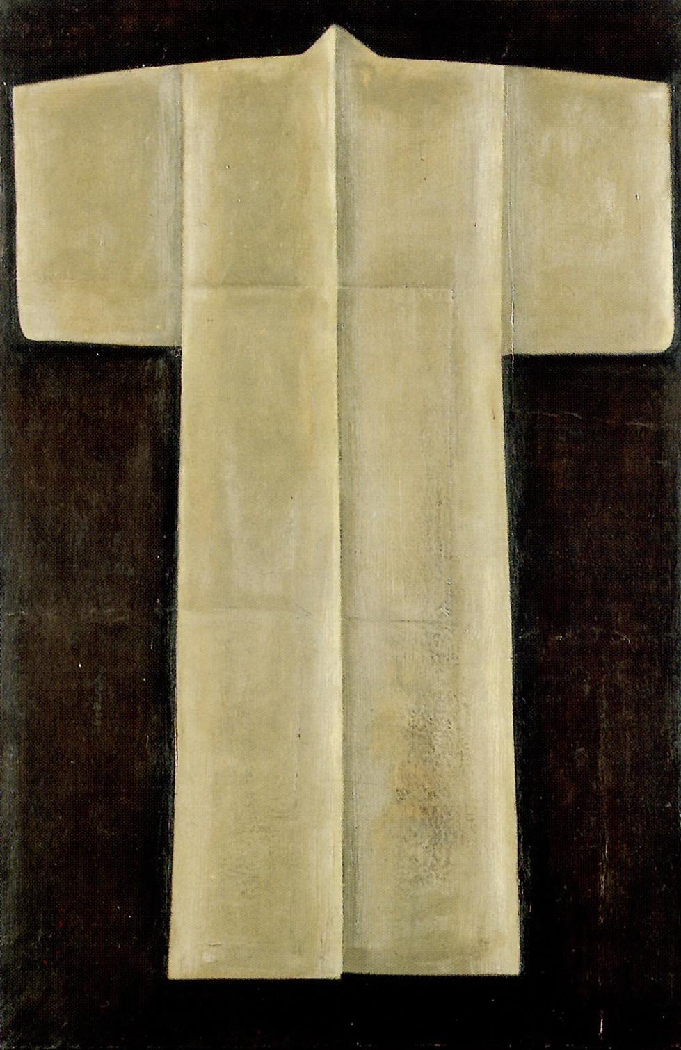 Senza titolo, 1999, olio su carta su tela, cm 100 x 150