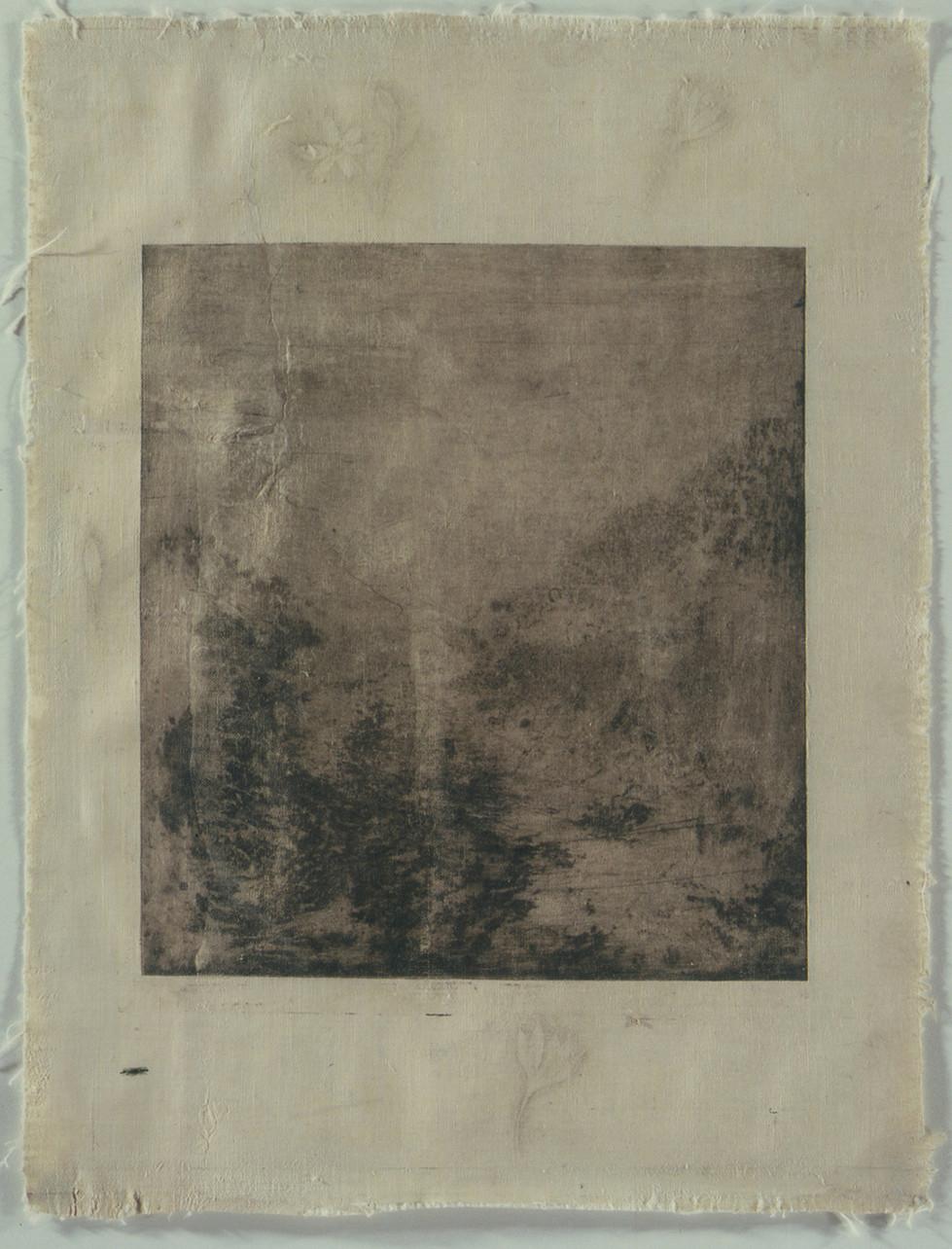 Senza titolo, 2001, calcografia e matita, cm 53 x 42