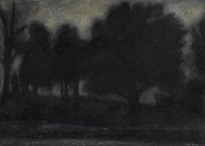 Senza titolo, 2009, olio su carta su tela, cm 25 x 35