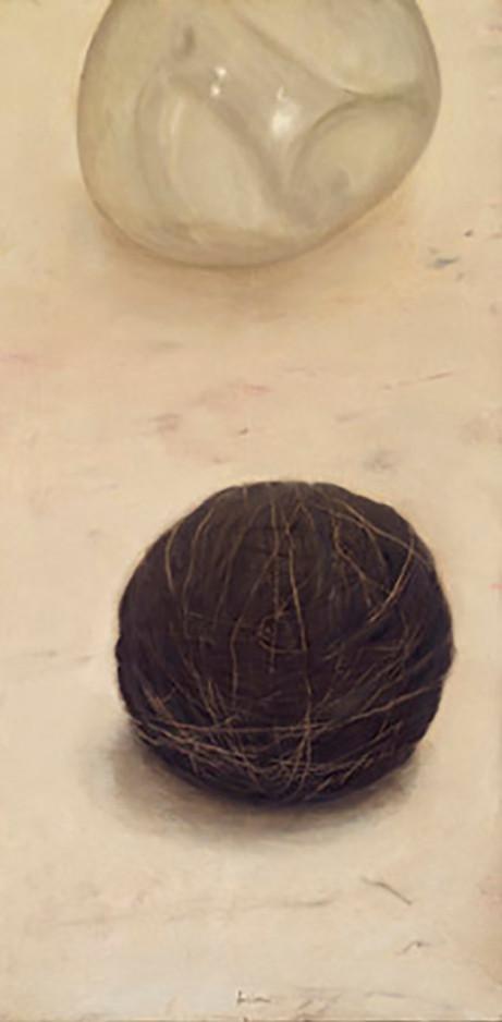 Senza titolo, 2004, olio e pastello su carta su tela, cm 100 x 50