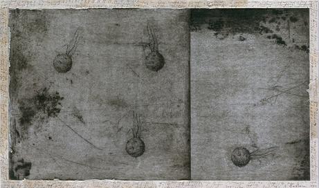 Senza titolo, 2001, tecnica mista su carta, cm 59 x 35