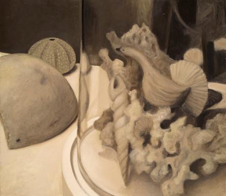 Senza titolo, 2007, olio su carta su tela, cm 71,5 x 81,5