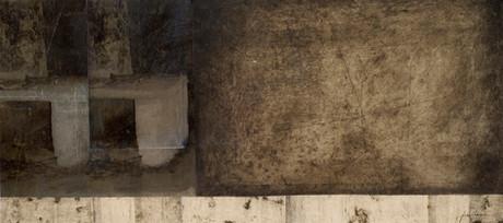Senza titolo, 2006, tecnica mista su carta, cm 30 x 67