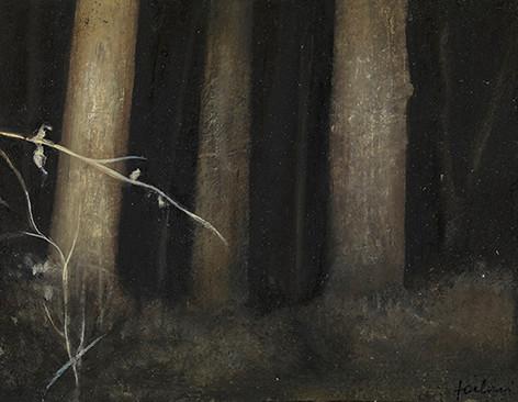 Senza titolo, 2012 olio su carta, cm 10,5 x 13,5