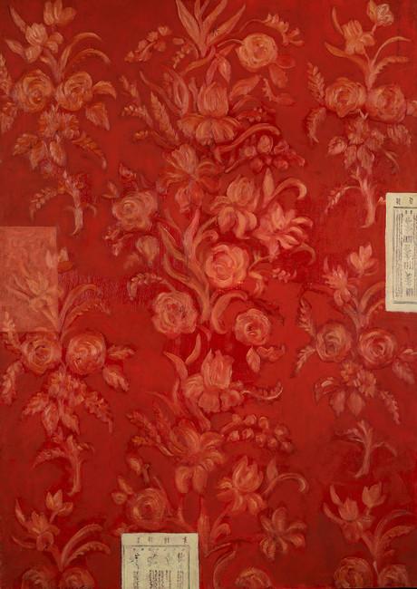 Senza titolo, 2005, olio su carta su tela, cm 140 x 100