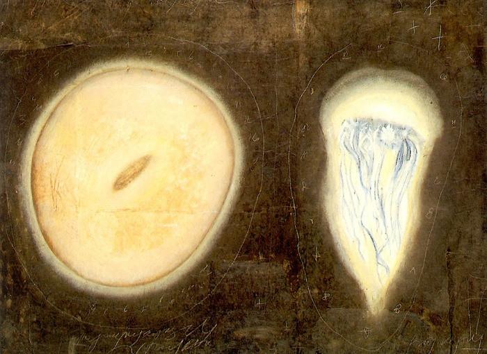 Senza titolo, 1997, olio su carta su tela, cm 60 x 80