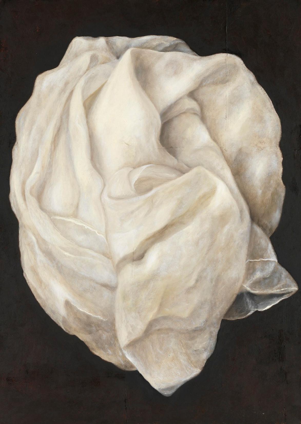 Senza titolo, 2009, olio su carta su tela, cm 140 x 100
