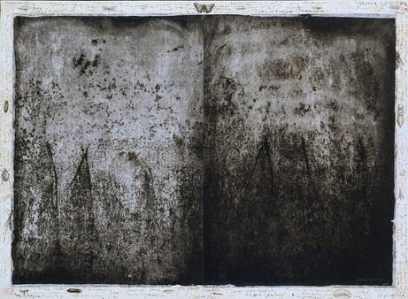 Senza titolo, 2002, calcografia e matita, cm 48 x 66