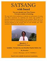 Satsang with Saeed Goa