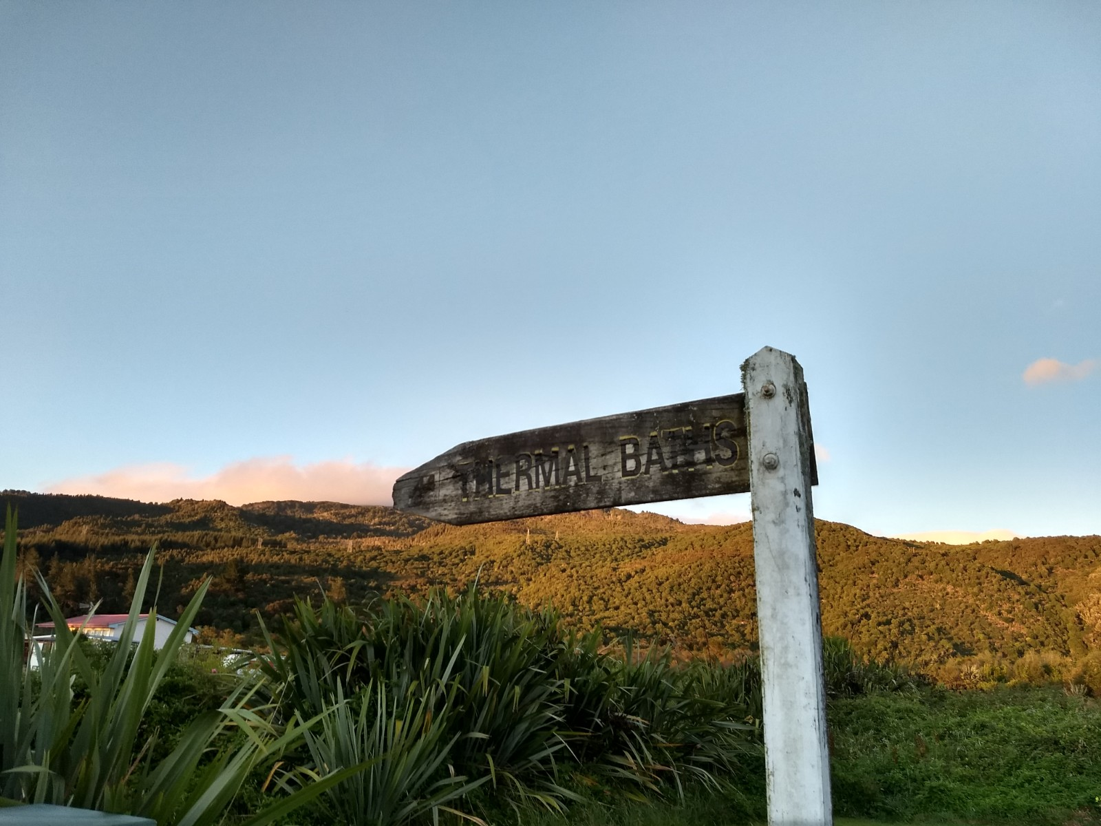 Old Thermal Pools Sign