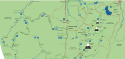 Map of national park - Turangi