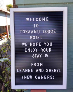 New sign #tokaanulodgemotel #tokaanu #to