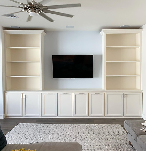 Shaker Built In Entertainment Center