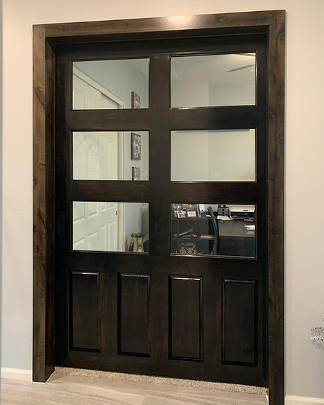Glass Barn Door & Trim
