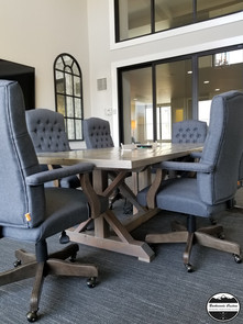 Farmhouse Conference Table with audio/video inputs