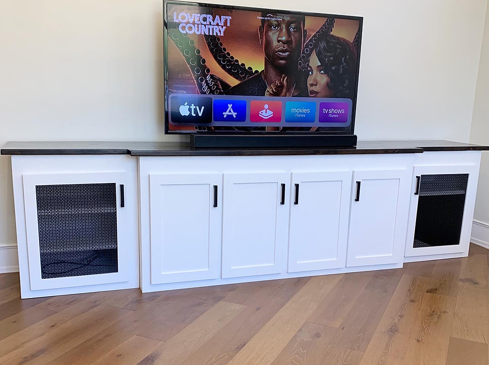 Entertainment Center w/ Metal Inserts