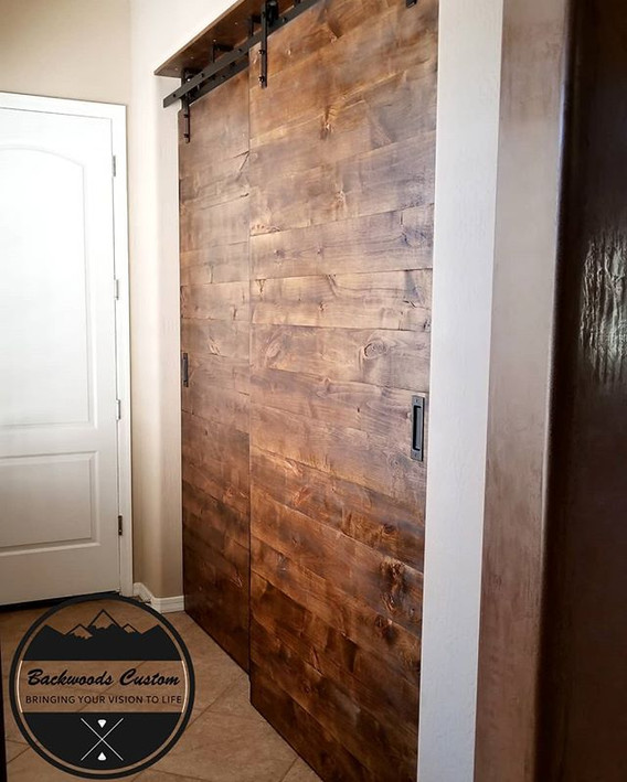Double by-pass barn doors