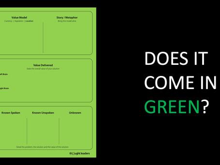 DEMONSTRATING VALUE: GREEN SHEETS