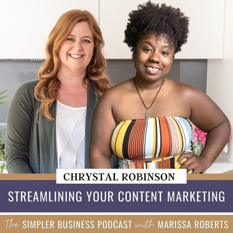 CHRYSSY AND MARISSA DISCUSS CONTENT AND HOW TO STREAMLINE YOUR CONTENT MARKETING!