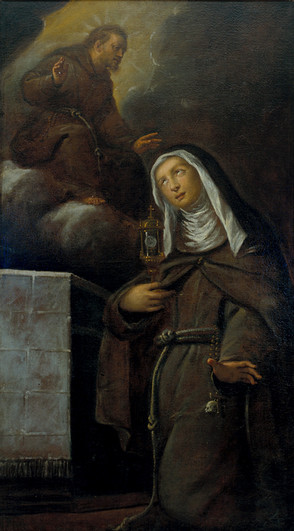 Santa Chiara rapita dalla visione di san Francesco