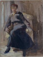 Donna in poltrona