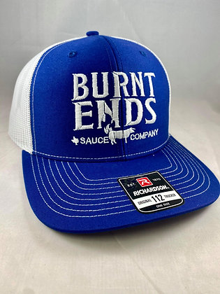 Burnt Ends Hat - Royal/White