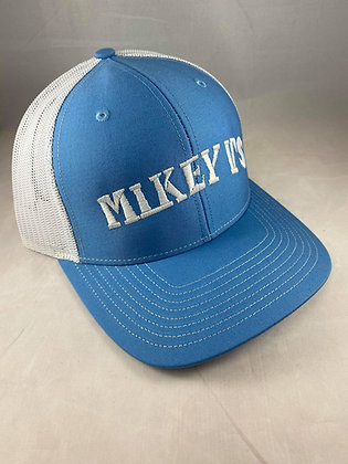 Mikey V's Hat - Columbia Blue/White