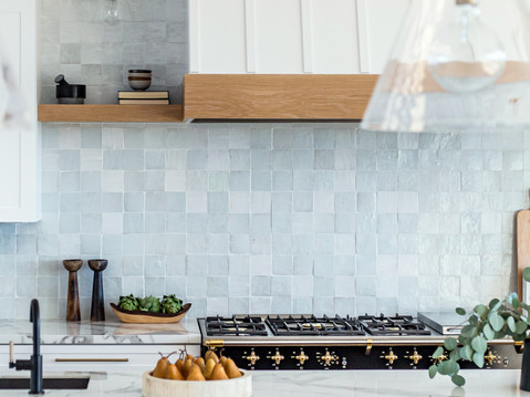 Bright and Airy kitchen by Temecula, California based staging and interior designer Laura Lochrin Interiors.